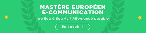 mastère e-communication