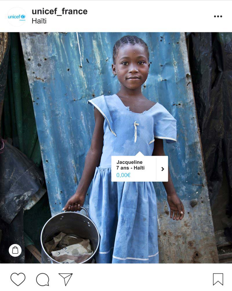 Unicef Instagram Shopping