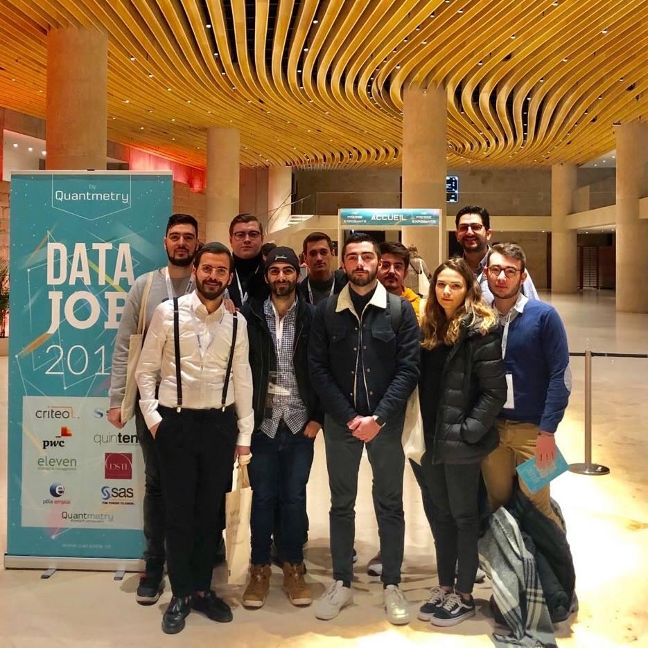 Webstart - photo des élèves lors du data job 2019