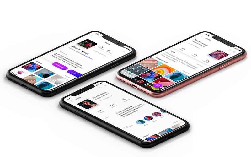 ui ux web design maquettes sur smartphones iphone X