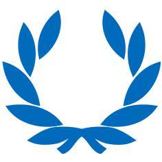 icone couronne de laurier bachelor bleu