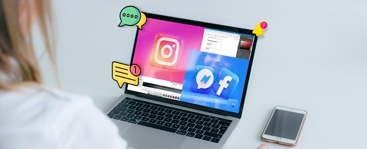 community manager écran ordinateur portable reseaux sociaux