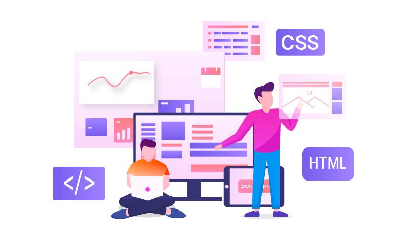 image dessin développement web et mobile