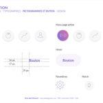 application direction artistique web pictogrammes et bouton