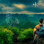infographie web une femme dans la jungle horizon publicité